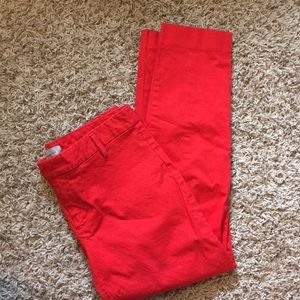 Gap Size 4 Slim Cropped Red Pants ❤️